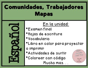 Communities, Workers and Maps: An Integrated Unit in Spanish