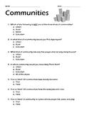 Communities Worksheet