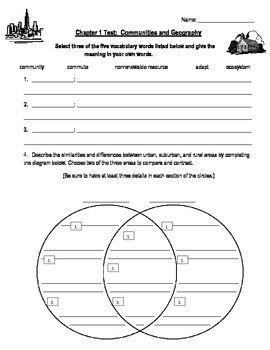 "Third Grade ""Communities and Geography"" Social Studies Test"