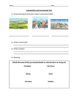 Communities and Government Test
