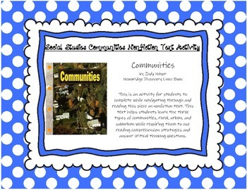Communities by Judy Nayer Informational Text Activity