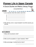 Communities in Canada: 1780 - 1850 Internet Research Project