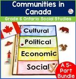 Ontario Grade 6 Social Studies   Communities in Canada Bundle
