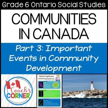 Communities in Canada Part 3 - Ontario Grade 6 Social Studies