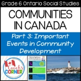 Communities in Canada Part 3 - Ontario Grade 6 Social Studies