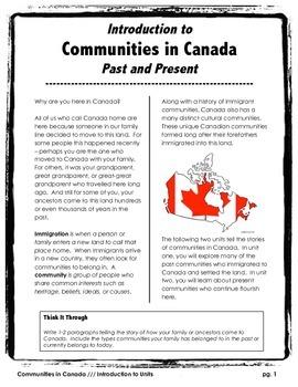 Communities in Canada // BIG UNIT BUNDLE // Canadian History // Social Studies