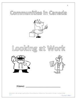 Communities in Canada:Looking at Work (Iqaluit, Meteghan, Saskatoon)