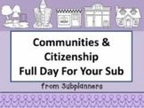 Communities and Citizenship -Common Core Aligned Full Day For Your Sub