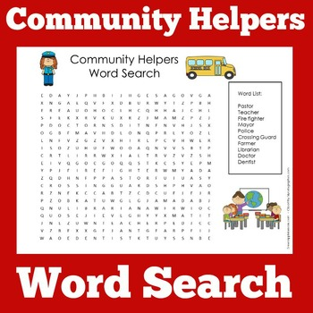 Community Helpers Worksheet Community Helpers Kindergarten Tpt