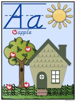 Community ABC Posters!!! D'Nealian & Manuscript Sets