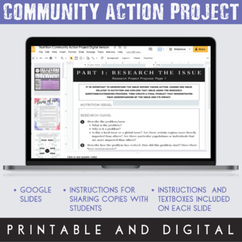 Community Action Project: Nutrition