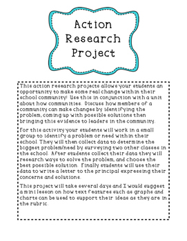 Community Action Research Project