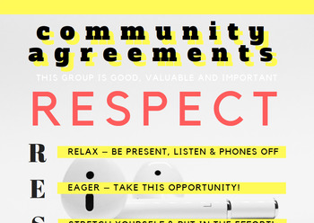 Community Agreements WITH discussion questions