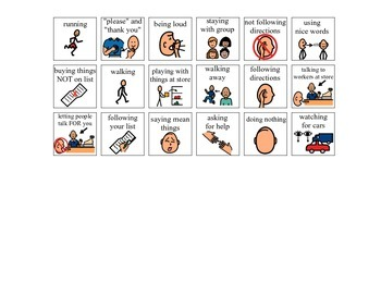 Community Based Instruction (CBI) Prep - Behavior