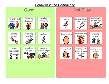 Community Based Instruction (CBI) Prep - Behavior