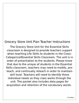 Community Based Instruction - Grocery Store
