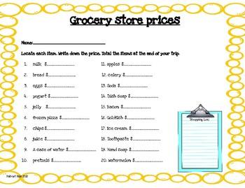 Community Based Instruction:Grocery shopping.