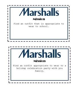 Community Based Instruction: Marshall's