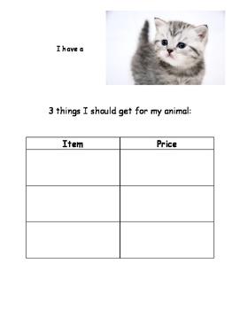 Community Based Instruction Scavenger Hunt - Pet Smart