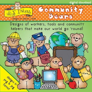 Community Bears Clip Art Download
