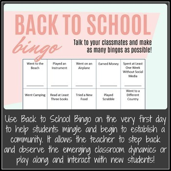 Community Building Activities and Icebreaker Pack for Secondary Students