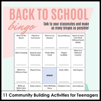 Community Building Activities & Icebreaker Pack for High School with Google Docs
