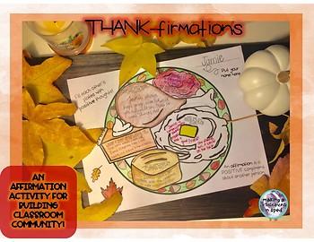 Community Building Affirmation Activity- November