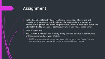 Community Building Assignment