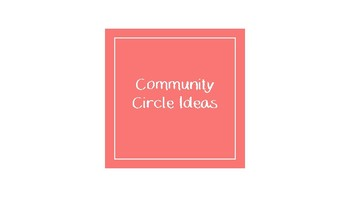 Community Building Ideas