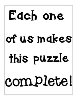 Community Building Puzzle Activity