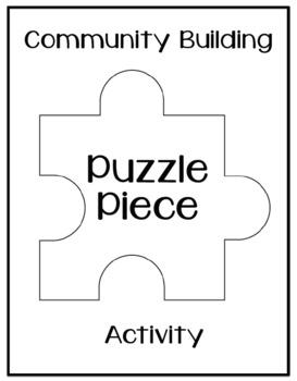 Community Building Puzzle Piece Activity