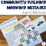 Community Building Morning Message April Edition
