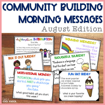Community Building Question of the Day August Edition