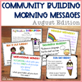 Community Building Morning Message August Edition