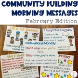 Community Building Morning Message February Edition