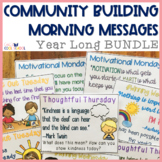 Community Building Morning Message Year Long Bundle