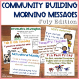 Community Building Question of the Day July Edition