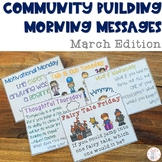 Community Building Morning Message March Edition