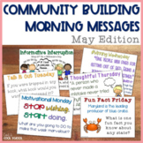 Community Building Morning Message May Edition
