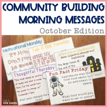 Community Building Question of the Day October Edition