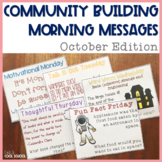 Community Building Morning Message October Edition