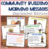 Community Building Morning Message September Edition
