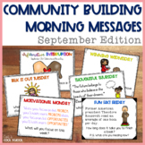 Community Building Morning Message September Edition