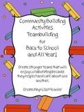 Back to School Community Building Teambuilding Activities