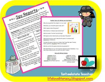 Community Building Writing Assignment Spy Reports Star of Week