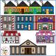 Community Buildings Clip Art for Digital & Paper Resources