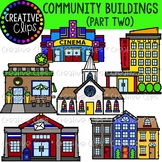 Community Buildings 2 {Creative Clips Clipart}
