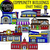 Community Buildings 3 {Creative Clips Clipart}