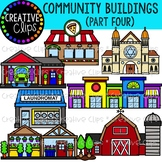 Community Buildings 4 {Creative Clips Clipart}