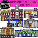 Community Buildings 5 {Creative Clips Clipart}